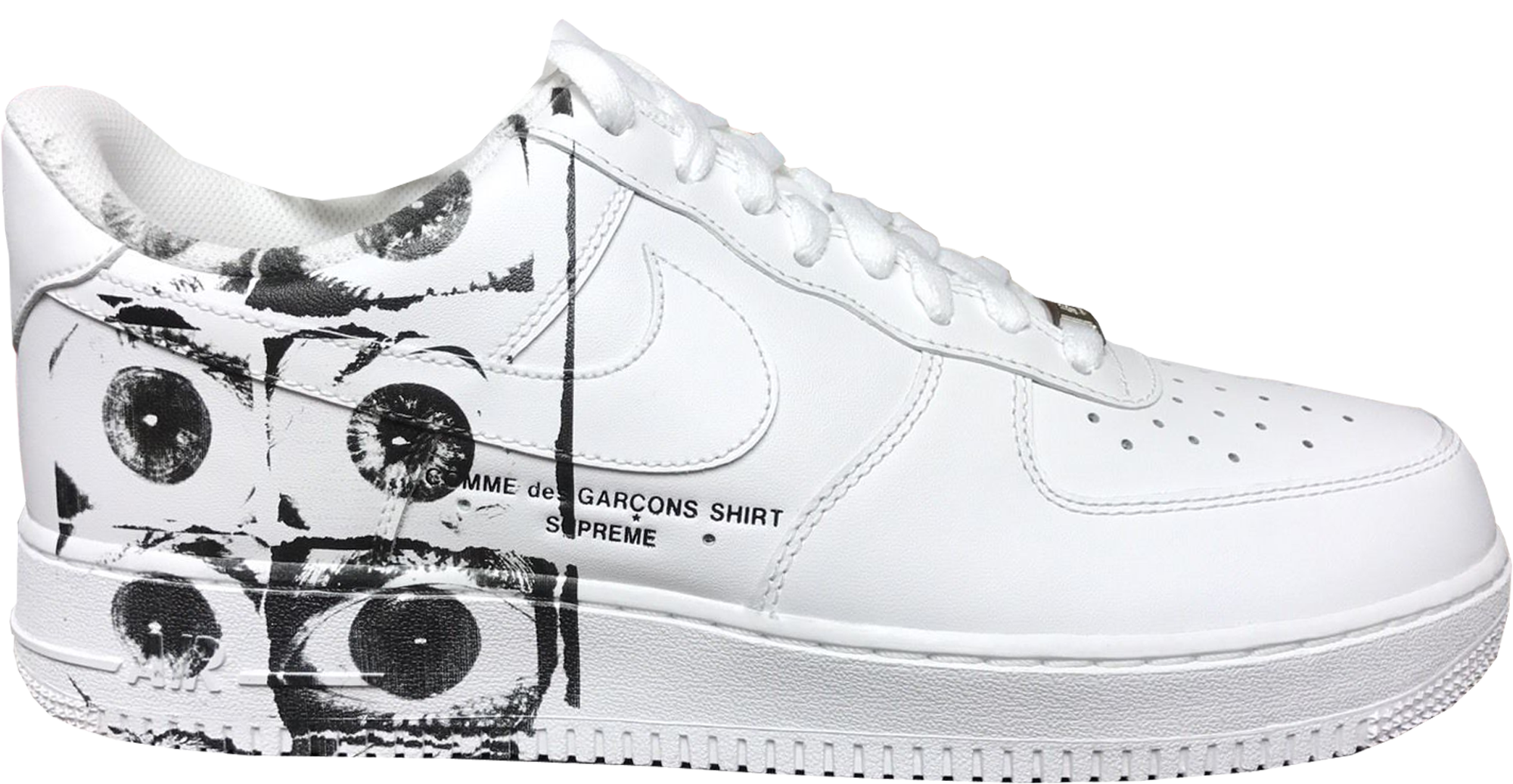 Días laborables Saco ego  Supreme x Comme des Garcons Shirt x Nike Air Force 1 Low White - StockX News