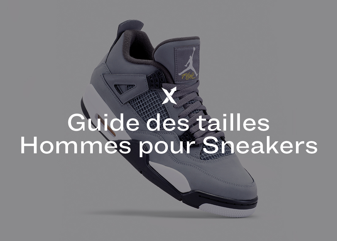 Guide des tailles Homme pour Sneakers - StockX News